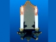 w Mirrored Wall Sconce with Candles